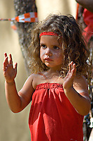 Young Yarrabah Dancer,  Laura Aboriginal Dance Festival, Laura, Cape York Peninsula, Queensland, Australia.