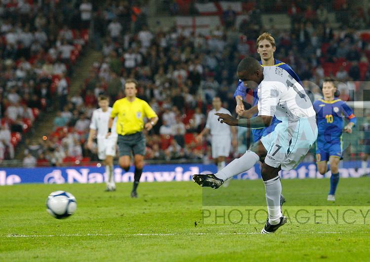 England's Jermaine Defoe scoring