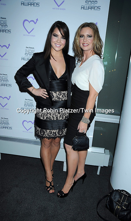 Caroline Byrne and aunt Martha Byrne attending The 2nd Annual Indie Soap Awards on February 21, 2011 at The Alvin Ailey Studios in  New York City sponsored by We Love Soaps.