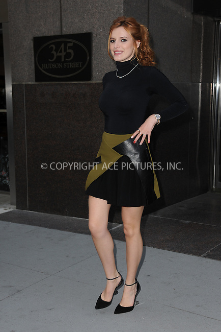 WWW.ACEPIXS.COM<br /> December 15, 2015 New York City<br /> <br /> Bella Thorne was seen leaving a SoHo office building on December 15, 2015 in New York City.<br /> <br /> Credit: Kristin Callahan/ACE Pictures<br /> <br /> Tel: (646) 769 0430<br /> e-mail: info@acepixs.com<br /> web: http://www.acepixs.com