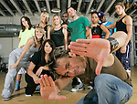 Shawn Welling (foreground) is the owner and CEO of Planet Funk, a Houston-based nationally-known Hip-hop dance troupe. The group rehearsed for an upcoming show at their studio on Logan Lane west of downtown Houston.  (Sunday, Aug. 5, 2007, in Houston. ( Steve Campbell / Chronicle)