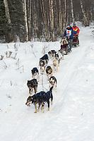 Tim Osmar w/Iditarider on Trail 2005 Iditarod Ceremonial Start near Campbell Airstrip Alaska SC