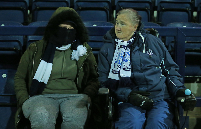 Preston North End fans fans look forward to the match<br /> <br /> Photographer Stephen White/CameraSport<br /> <br /> The EFL Sky Bet Championship - Preston North End v Middlesbrough - Tuesday 27th November 2018 - Deepdale Stadium - Preston<br /> <br /> World Copyright © 2018 CameraSport. All rights reserved. 43 Linden Ave. Countesthorpe. Leicester. England. LE8 5PG - Tel: +44 (0) 116 277 4147 - admin@camerasport.com - www.camerasport.com<br /> <br /> Photographer Stephen White/CameraSport<br /> <br /> The EFL Sky Bet Championship - Preston North End v Middlesbrough - Tuesday 27th November 2018 - Deepdale Stadium - Preston<br /> <br /> World Copyright © 2018 CameraSport. All rights reserved. 43 Linden Ave. Countesthorpe. Leicester. England. LE8 5PG - Tel: +44 (0) 116 277 4147 - admin@camerasport.com - www.camerasport.com