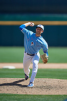 Buffalo Bisons relief pitcher Justin Shafer (33) during an International League game against the Lehigh Valley IronPigs on June 9, 2019 at Sahlen Field in Buffalo, New York.  Lehigh Valley defeated Buffalo 7-6 in 11 innings.  (Mike Janes/Four Seam Images)