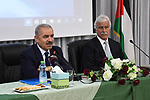 Palestinian Prime Minister Mohammad Ishtayeh visits the headquarter of the Ministery of Education in the Wet Bank city of Ramallah, July 31, 2019. Photo by Prime Minister Office