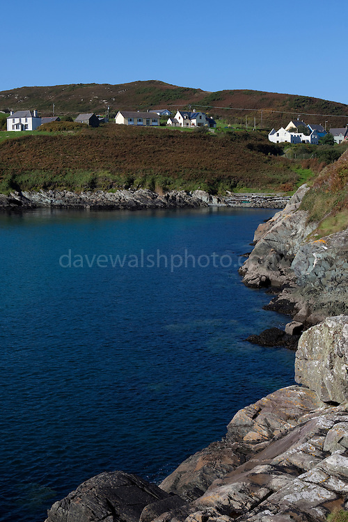 House overlooking South Harbour on Cape Clear Island, Ireland's most southerly inhabited island, off the coast of Co. Cork