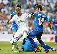 MADRI, ESPANHA, 22.09.2013 - CAMP. ESPANHOL - REAL MADRID X GETAFE - Karin Benzema do Real Madrid durante partida contra o Getafe pela quinta rodada do Campeonato Espanhol, neste domingo, 22. (Foto: Cesar Cebolla / Brazil Photo Press).