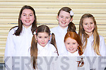 Aoibhe McKenna, Amy Keane, Aoife Coleman, Eva Nolan and Ada Relihan St Teresa NS Kilflynn at the 2014 Peace Proms in the INEC on Sunday