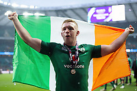 Dan Leavy of Ireland celebrates after the match. Natwest 6 Nations match between England and Ireland on March 17, 2018 at Twickenham Stadium in London, England. Photo by: Patrick Khachfe / Onside Images