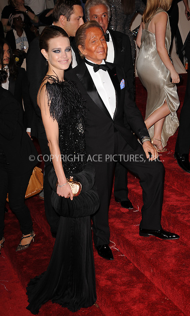 WWW.ACEPIXS.COM . . . . . ....May 2 2011, New York City....Designer Valentino Garavani and model Natalia Vodianova arriving at the 'Alexander McQueen: Savage Beauty' Costume Institute Gala at The Metropolitan Museum of Art on May 2, 2011 in New York City. ....Please byline: KRISTIN CALLAHAN - ACEPIXS.COM.. . . . . . ..Ace Pictures, Inc:  ..(212) 243-8787 or (646) 679 0430..e-mail: picturedesk@acepixs.com..web: http://www.acepixs.com