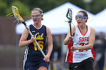 Santa Barbara, CA 02/19/11 - Heather Ullrich (UC Berkeley #16) and Claire Shannon (San Diego State #24) in action during the San Diego State - Cal Berkeley game at the 2011 Santa Barbara Shootout.