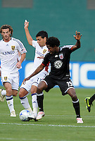 DC United midfielder Clyde Simms (19) fights for control over the ball with Real Salt Lake midfielder Javier Morales (11).  DC United tied Real Salt Lake 0-0 at  RFK Stadium, Saturday May 23, 2009.