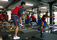 Pictured: Players train at the gym. Tuesday 11 July 2017<br />Re: Swansea City FC training at Fairwood training ground, UK