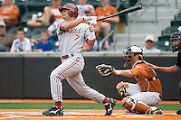 Stanford outfielder Tyler Gaffney (7) follows through against the Texas Longhorns on March 4th, 2011 at UFCU Disch-Falk Field in Austin, Texas.  (Photo by Andrew Woolley / Four Seam Images)