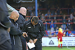 Aldershot Town 0 Torquay United 3, 15/08/2007. Recreation Ground, Football Conference.Torquay's first game in the Blue Square Premier. A 330 mile round trip to Aldershot Town's Recreation Ground. Manager Paul Buckle takes notes during the first half.