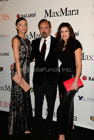 MIAMI, FL - JANUARY 10: Christina Perez, Jorge Perez and Darlene Perez attends 2015 YoungArts Backyard Ball Red Carpet Arrival at YoungArts Campus on January 10, 2015 in Miami, Florida.  Credit: MPI10 / MediaPunch