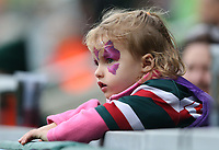 A young Tigers fan watches <br /> <br /> Photographer Stephen White/CameraSport<br /> <br /> Gallagher Premiership Round 2 - Leicester Tigers v Newcastle Falcons - Saturday September 8th 2018 - Welford Road - Leicester<br /> <br /> World Copyright &copy; 2018 CameraSport. All rights reserved. 43 Linden Ave. Countesthorpe. Leicester. England. LE8 5PG - Tel: +44 (0) 116 277 4147 - admin@camerasport.com - www.camerasport.com