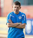 Morton Manager Allan Moore at the end of the game.