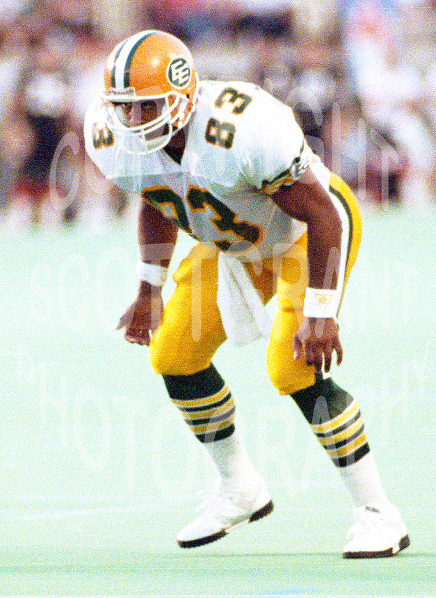 Chris Johnstone Edmonton Eskimos1990-Photo: Scott Grant