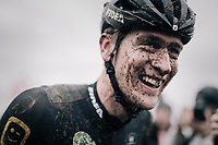 An emotional (& happy) Toon Aerts (BEL/Telenet Fidea Lions) takes his first national championships title as a pro rider<br /> <br /> Elite Men's Race<br /> Belgian National CX Championschips<br /> Kruibeke 2019