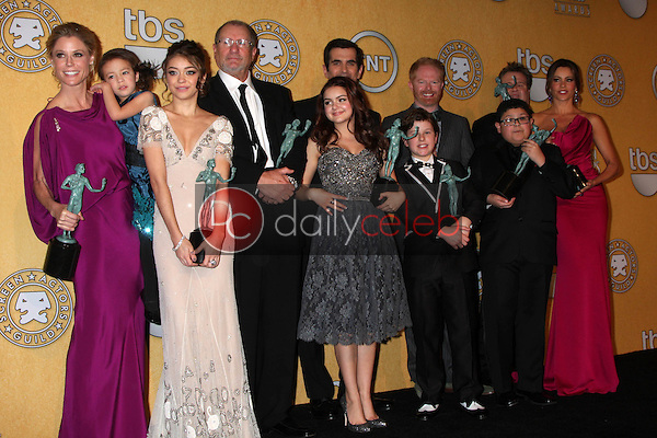"""Cast of """"Modern Family""""<br /> at the 18th Annual Screen Actors Guild Awards Pressroom, Shrine Auditorium, Los Angeles, CA 01-29-12<br /> David Edwards/DailyCeleb.com 818-249-4998"""