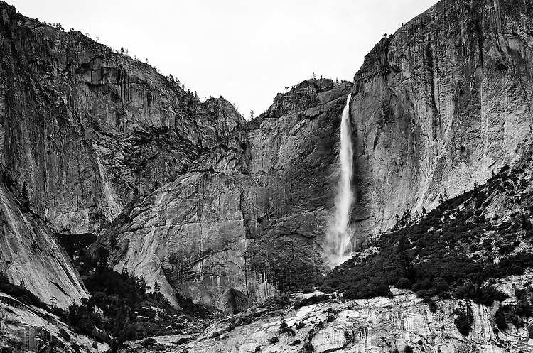 Upper Yosemite Falls,  35mm image on Ilford Delta 100 film