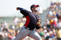 Minnesota Twins pitcher Terry Doyle #56 delivers a pitch during a spring training game against the Pittsburgh Pirates at McKechnie Field on March 10, 2012 in Bradenton, Florida.  Minnesota defeated Pittsburgh 4-2.  (Mike Janes/Four Seam Images)
