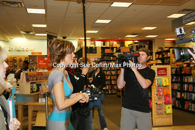 Camera crew with Lisa Rinna new book Rinnavation - Getting Your Best Life Ever debuts today, May 19. 2009 at Borders at Columbus Circle, New York City, New York. (Photo by Sue Coflin/Max Photos)