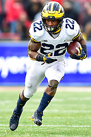 College Park, MD - NOV 11, 2017: Michigan Wolverines running back Karan Higdon (22) runs the football during game between Maryland and Michigan at Capital One Field at Maryland Stadium in College Park, MD. (Photo by Phil Peters/Media Images International)