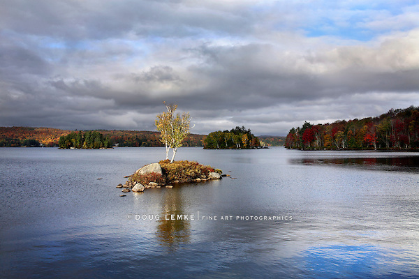 Tupper Lake In Autumn, Adirondack Mountains, New York, USA