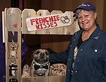 Bobbi and Tag the French bulldog during the Nevada Humane Society's 3rd  annual Heels & Hounds event at the Atlantis Resort and Spa in Reno on April 9, 2017.