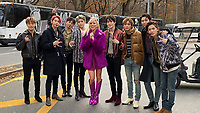 NEW YORK, NY - NOVEMBER 28: NCT 127 and Debbie Gibson  at the Macy's Thanksgiving Day Parade in New York, New York on November 28, 2019.  <br /> CAP/MPI/RMP<br /> ©RMP/MPI/Capital Pictures