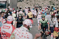 Simon Clarke (AUS/Cannondale-Drapac) & Damien Howson (AUS/ORICA-Scott) up the Col d'Izoard (HC/2360m/14.1km/7.3%)<br /> <br /> 104th Tour de France 2017<br /> Stage 18 - Briancon › Izoard (178km)