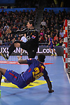 VELUX EHF 2017/18 EHF Men's Champions League Group Phase - Round 11.<br /> FC Barcelona Lassa vs HC Vardar: 29-28.<br /> Dika Mem vs Arpad Sterbik.