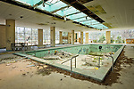 Interior Pool of an Abandoned Hotel in the Catskills