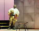 "English Touring Opera presents ""Ulysses' Homecoming"" at the Hackney Empire, prior to its UK tour. Picture shows: John-Colyn Gyeantey (Eumaeus)"