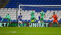 4th January 2020; Cardiff City Stadium, Cardiff, Glamorgan, Wales; English FA Cup Football, Cardiff City versus Carlisle; Gavin Whyte of Cardiff City heads in his sides second goal in the 55th minute to make the score 2-2 - Strictly Editorial Use Only. No use with unauthorized audio, video, data, fixture lists, club/league logos or 'live' services. Online in-match use limited to 120 images, no video emulation. No use in betting, games or single club/league/player publications