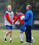 Steven Naismith and John Fleck having a caper with Ian Durrant