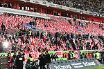14.04.2019, Merkur Spiel-Arena, Duesseldorf, GER, DFL, 1. BL, Fortuna Duesseldorf vs FC Bayern Muenchen, DFL regulations prohibit any use of photographs as image sequences and/or quasi-video<br /> <br /> im Bild Düsseldorfer Fahnenmeer <br /> <br /> Foto © nph/Mauelshagen