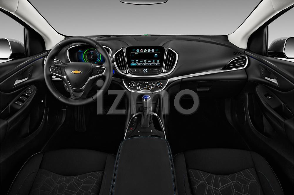Stock photo of straight dashboard view of 2018 Chevrolet Volt LT 5 Door Hatchback Dashboard