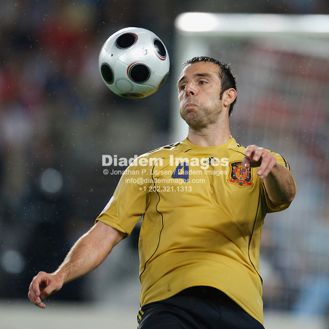 VIENNA - JUNE 26:  Carlos Marchena of Spain in action during a UEFA Euro 2008 semi-final match against Russia June 26, 2008 at Ernst Happel Stadion in Vienna, Austria.  (Photograph by Jonathan P. Larsen)