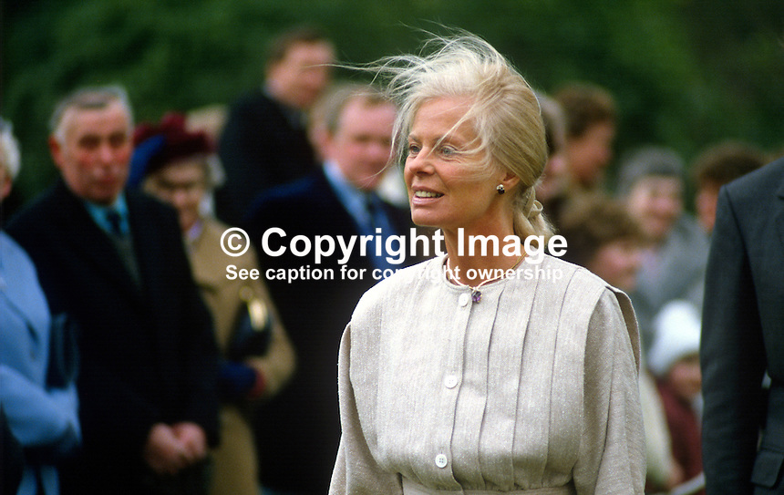 Duchess of Kent at garden party, Hillsborough Castle, N Ireland, during the duchess's April 3 and 4, 1984 visit to the Province. 198404030044e   ..Copyright Image from Victor Patterson, 54 Dorchester Park, Belfast, UK, BT9 6RJ..Tel: +44 28 9066 1296.Mob: +44 7802 353836.Voicemail +44 20 8816 7153.Skype: victorpattersonbelfast.Email: victorpatterson@me.com.Email: victorpatterson@ireland.com (back-up)..IMPORTANT: If you wish to use this image or any other of my images please go to www.victorpatterson.com and click on the Terms & Conditions. Then contact me by email or phone with the reference number(s) of the image(s) concerned.