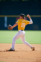 Josh Heath (18) of Lewisburg High School in Lewisburg, PA during the Perfect Game National Showcase at Hoover Metropolitan Stadium on June 17, 2020 in Hoover, Alabama. (Mike Janes/Four Seam Images)