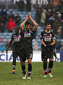 17th March 2018, The John Smiths Stadium, Huddersfield, England; EPL Premier League football, Huddersfield Town versus Crystal Palace; Luka Milivojevic and James Tomkins of Crystal Palace applaud the fans at the end of the match after they both scored goals