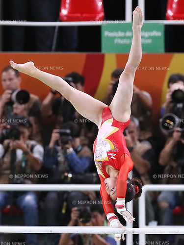 Asuka Teramoto (JPN), <br /> AUGUST 9, 2016 - Artistic Gymnastics : <br /> Women's Final <br /> Uneven Bars <br /> at Rio Olympic Arena <br /> during the Rio 2016 Olympic Games in Rio de Janeiro, Brazil. <br /> (Photo by Sho Tamura/AFLO SPORT)