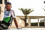 Mark Cavendish (GBR) Team Dimension Data relaxed at sign on before the start of Stage 3 of the 2018 Tour of Oman running 179.5km from German University of Technology to Wadi Dayqah Dam. 15th February 2018.<br /> Picture: ASO/Muscat Municipality/Kare Dehlie Thorstad | Cyclefile<br /> <br /> <br /> All photos usage must carry mandatory copyright credit (&copy; Cyclefile | ASO/Muscat Municipality/Kare Dehlie Thorstad)