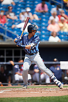 West Michigan Whitecaps right fielder Dylan Rosa (24) at bat during a game against the Quad Cities River Bandits on July 23, 2018 at Modern Woodmen Park in Davenport, Iowa.  Quad Cities defeated West Michigan 7-4.  (Mike Janes/Four Seam Images)