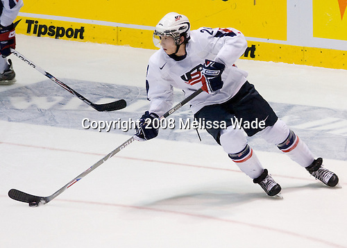 Jonathon Blum (USA 24) - Team Canada defeated Team USA 4-1 on Friday, January 4, 2008, during the World Junior Championship at CEZ Arena in Pardubice, Czech Republic.  The result put Team Canada into the gold medal game and Team USA into the bronze medal game. Blum plays for the Vancouver Giants and was drafted 23rd overall by the Nashville Predators in 2007 making him the first born and raised Californian drafted in the first round.