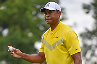 Tiger Woods (USA) after his par putt on 1 during Rd3 of the 2019 BMW Championship, Medinah Golf Club, Chicago, Illinois, USA. 8/17/2019.<br /> Picture Ken Murray / Golffile.ie<br /> <br /> All photo usage must carry mandatory copyright credit (© Golffile   Ken Murray)