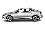 Car Driver side profile view of a 2017 Volvo S60 R-Design 4 Door Sedan Side View